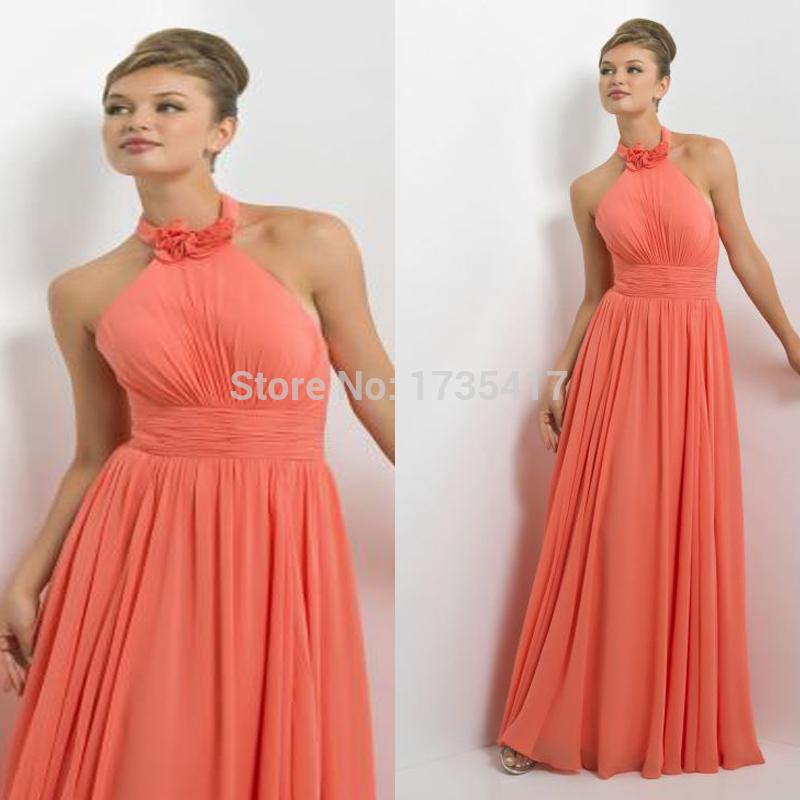 Coral color beach bridesmaid dresses wedding dresses asian for Coral bridesmaid dresses for beach wedding
