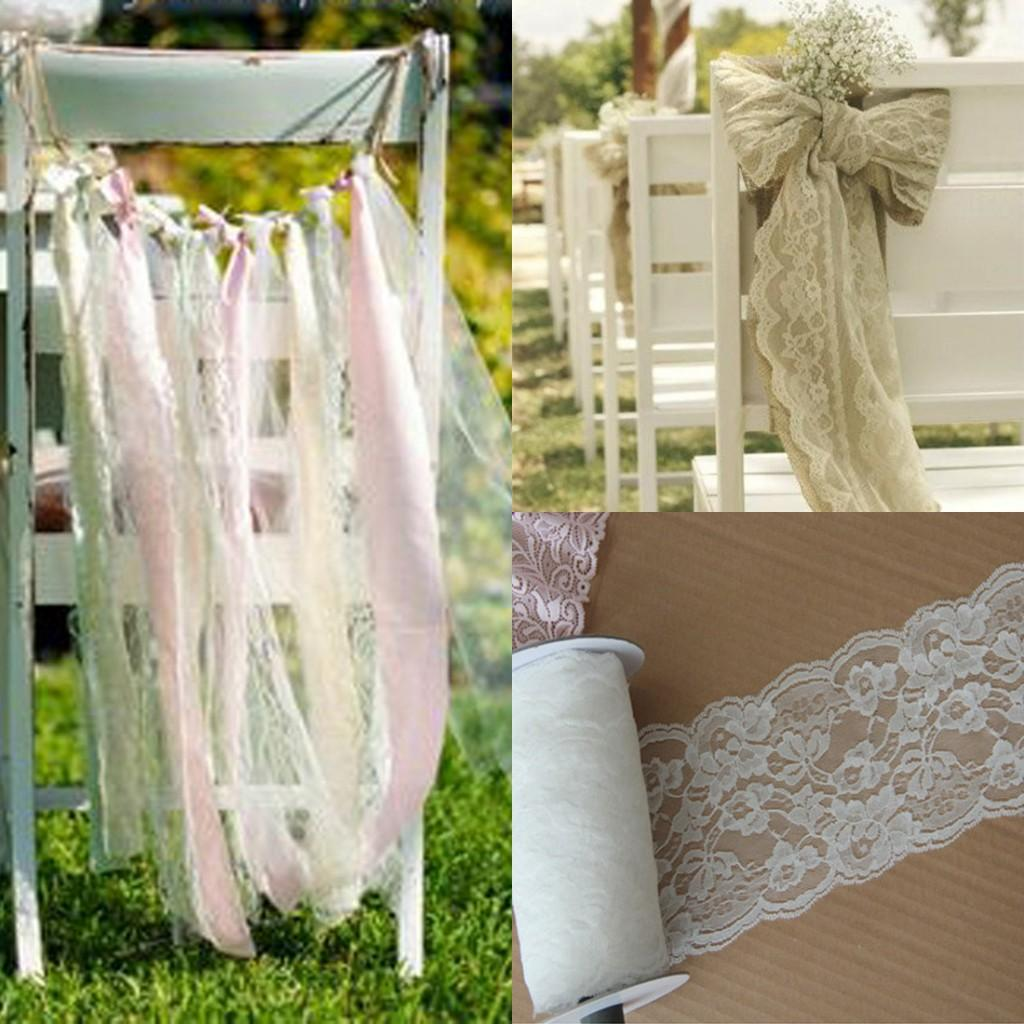 Wedding Decorations Cheap: White Lace Wedding Decorations Supplies Boho Beach Wedding