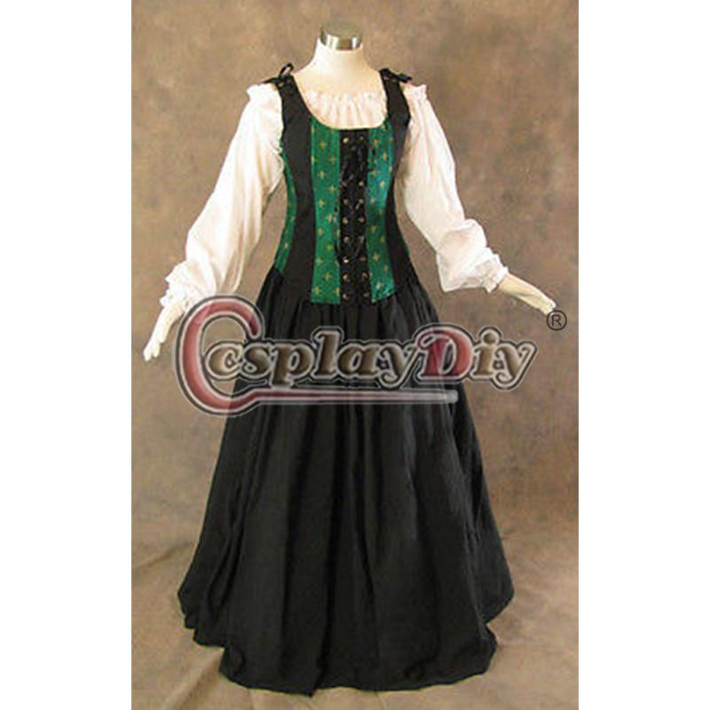 Custom Made Victorian Dress Bodice Skirt Medieval Renaissance ...
