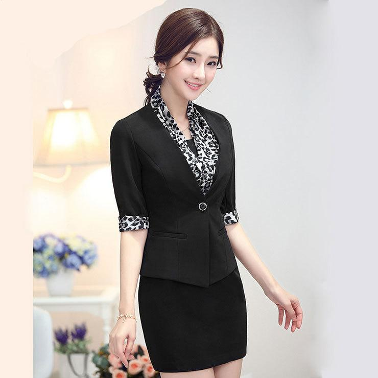 Summer Women Elegant Work Suits 2015 Women Business Suits Formal ...
