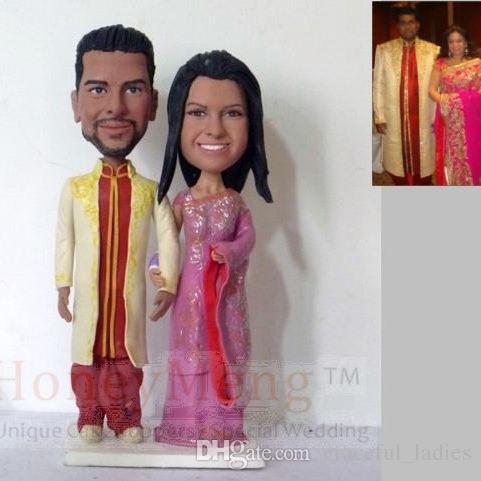 personnalis mariage indien traditionnel gteau toppers hindoue tenue de gteau dcorations de mariage fournitures favors party - Figurine Gateau Mariage Personnalis
