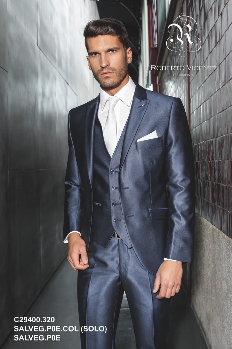 Navy Blue Formal Mens Suits 2015 Handsome Wedding Groom Suits Slim ...