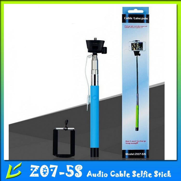 2017 selfie sticks z07 5s wired selfiestick monopod handheld telescopic selfie stick with button. Black Bedroom Furniture Sets. Home Design Ideas