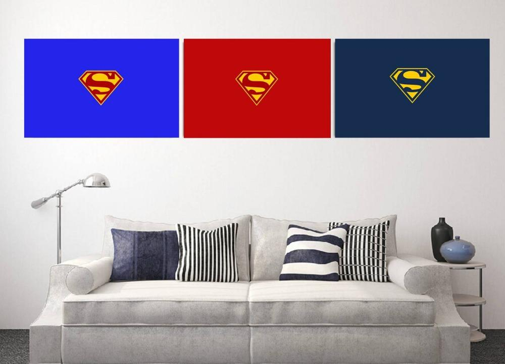 Cheap Wholesale Wall Art Superman Logo Wall Sticker For Home Decor 40x60cm 15 75x24inch Piece Wall Stickers For Kids Rooms Star Wall Stickers Star Wars