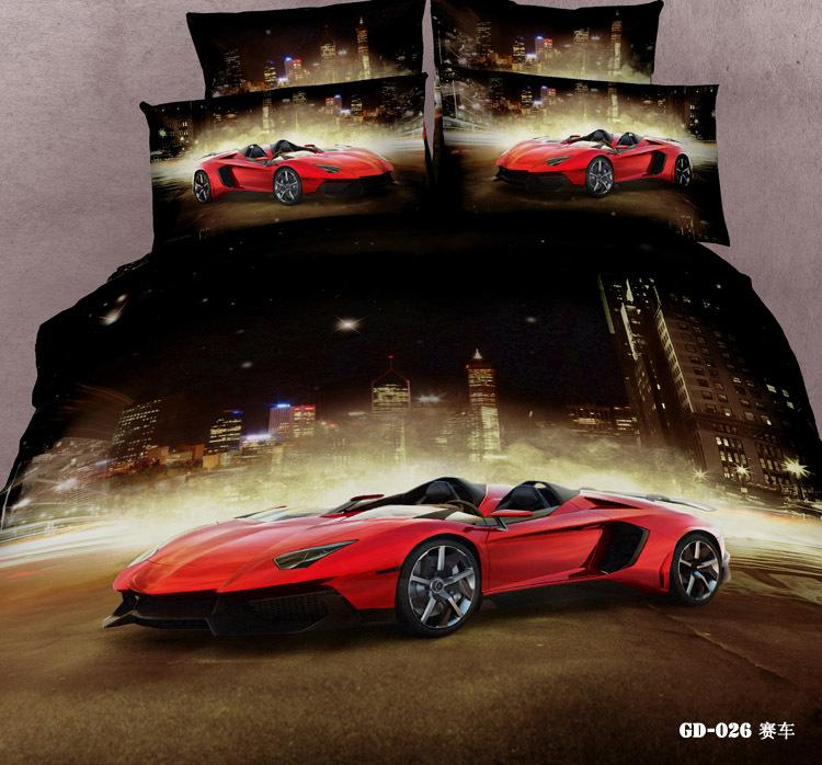 7pcs 3d race cars bedding sets california king queen size quilt duvet cover designer fitted bed in a bag sheets bedspread bedroom linen