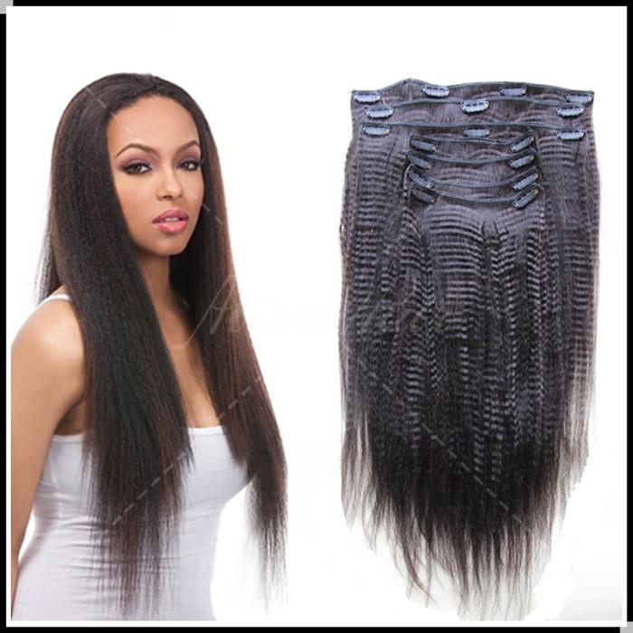 6a New Fashion Coarse Yaki 100g Clip In Human Hair