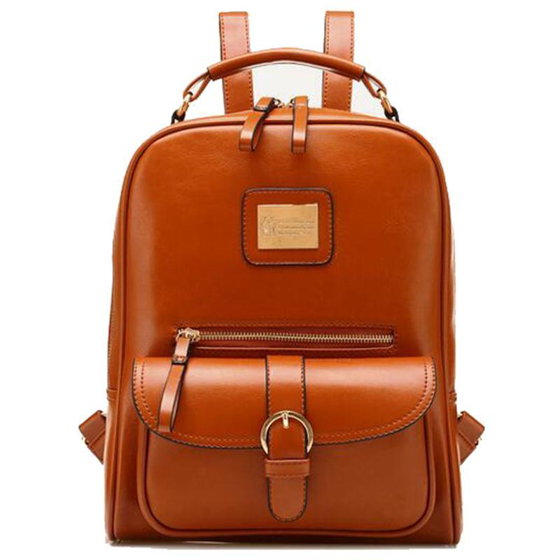 Fashion Travel Bags Women Pu Leather Backpack Women Fashion ...