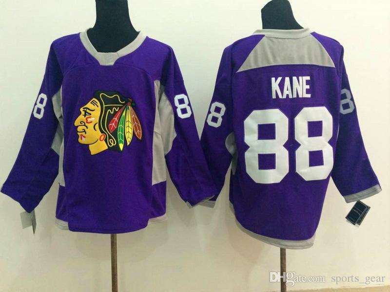 Cheap NFL Jerseys - New Hot Blackhawks #88 Patrick Kane Jersey Purple Hockey Jerseys ...