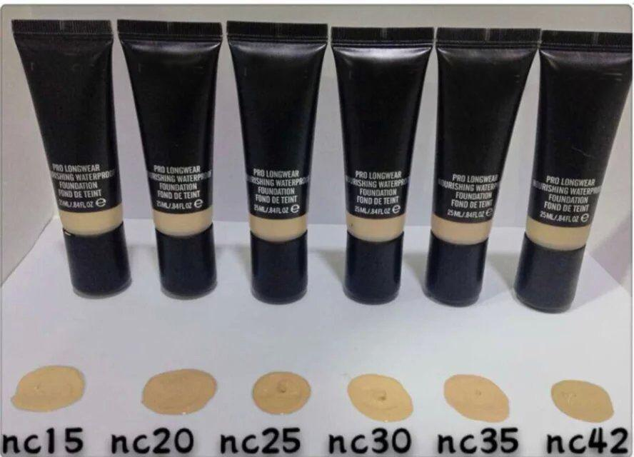 hot new makeup pro longwear nourishing waterproof foundation fond de teint 25ml dhl free. Black Bedroom Furniture Sets. Home Design Ideas