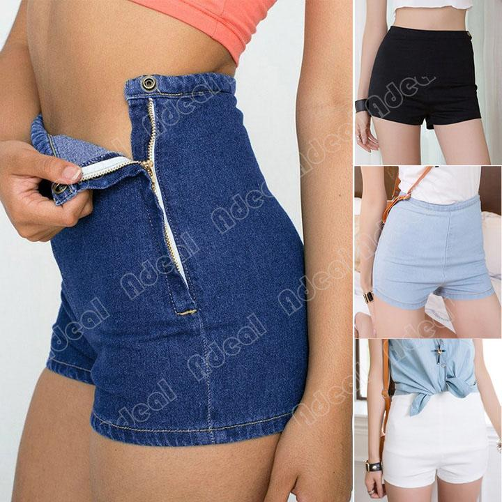 2017 New Summer Women Slim High Waist Jeans Denim Short Hot Pants ...