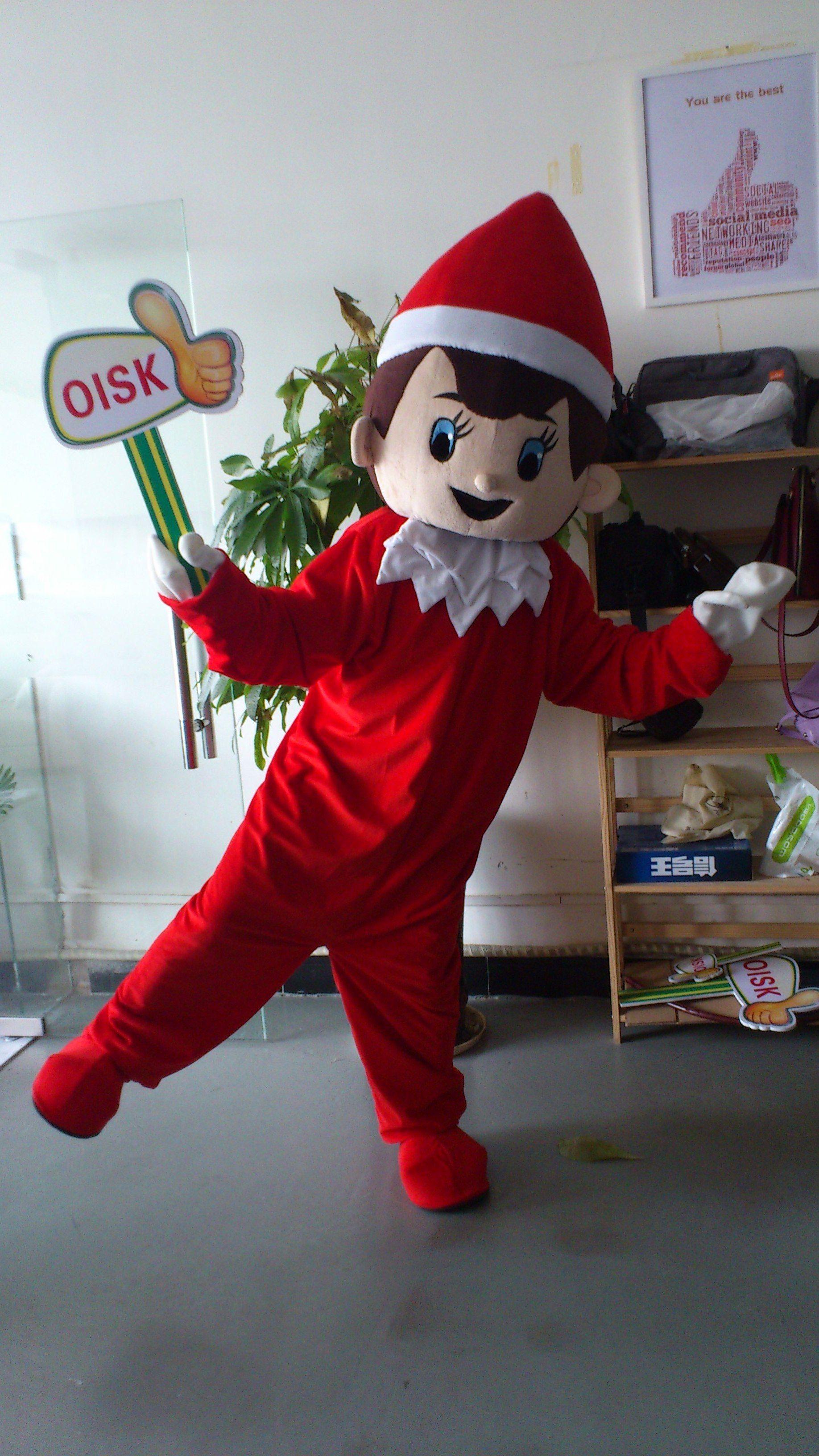 High quality christmas elf mascot costume adult size xmas
