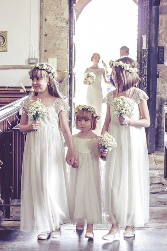 Vintage Bohemian Flower Girls Dresses For Weddings 2017 Capped ...