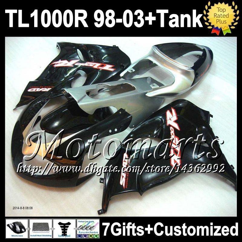 tank for suzuki black silver tl1000r 98 03 tl1000 r 28m3. Black Bedroom Furniture Sets. Home Design Ideas