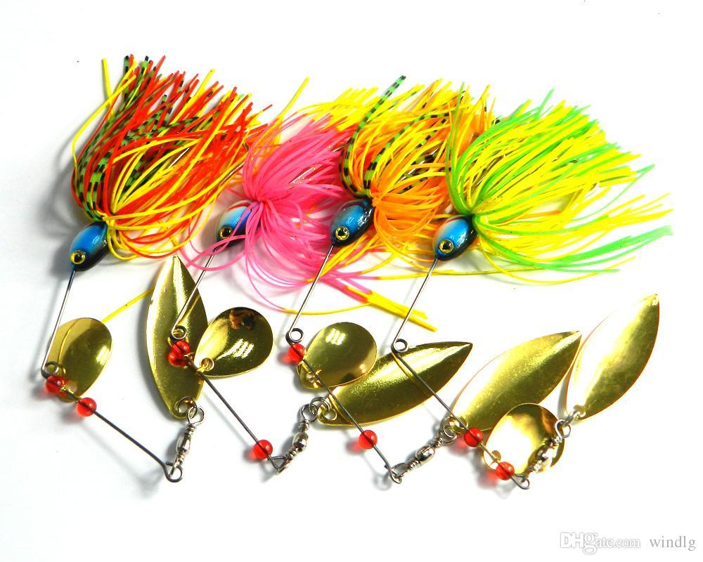 Freshwater fish bait - Hengjia Spinner Bait Freshwater Fishing Lures Rubber Jig Spoons Fly Fishing Bait
