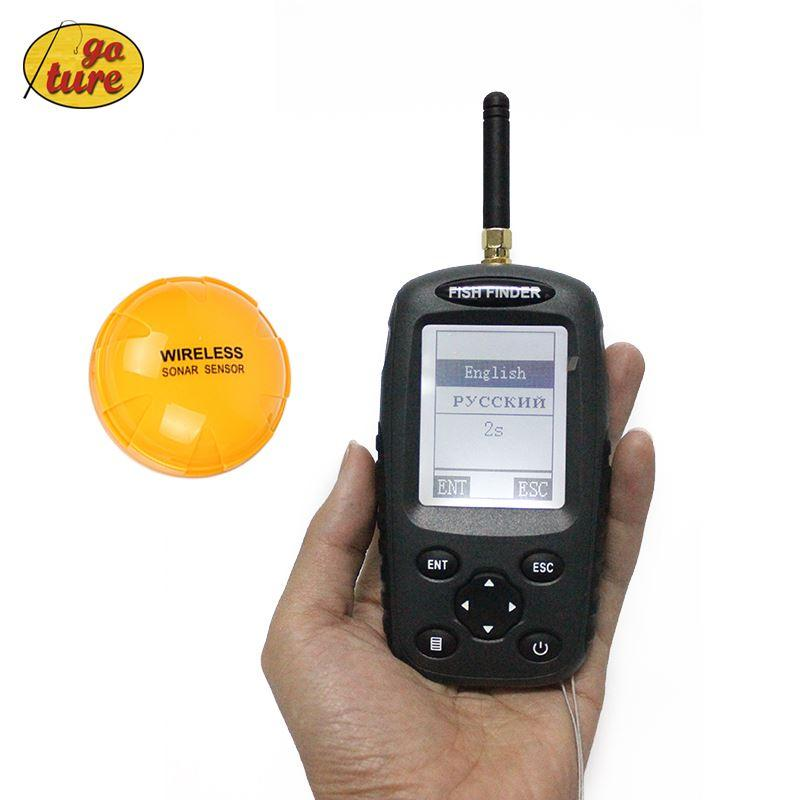 goture russian / english menu wireless fish finder 0.6 40m fishing, Fish Finder