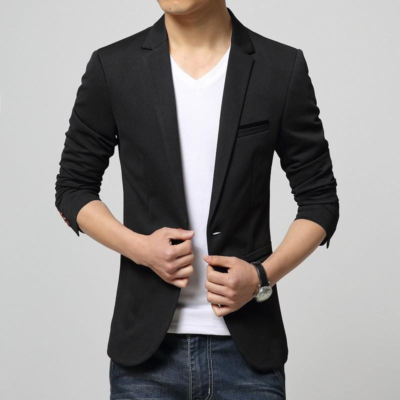2015 New Arrival Mens Casual Blazer Jackets Khaki Korean Blazer ...