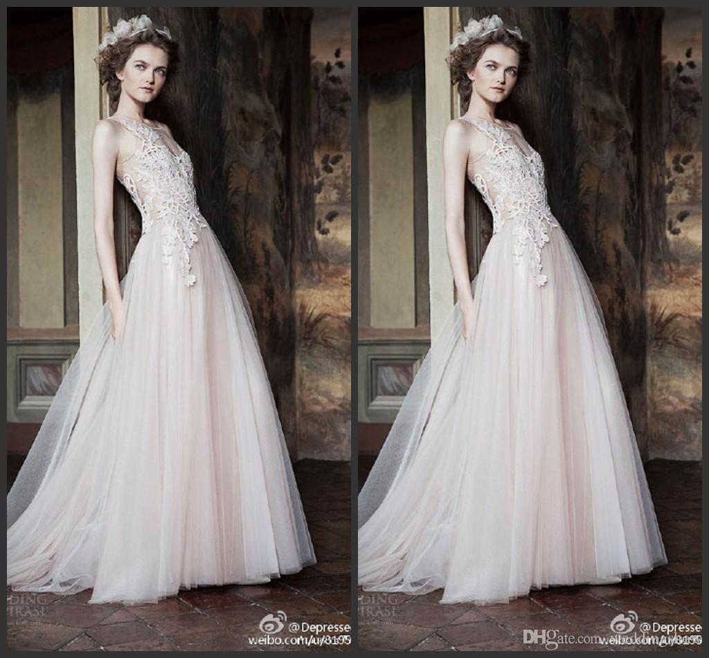 Discount Simple Vintage Wedding Dresses Tulle Lace