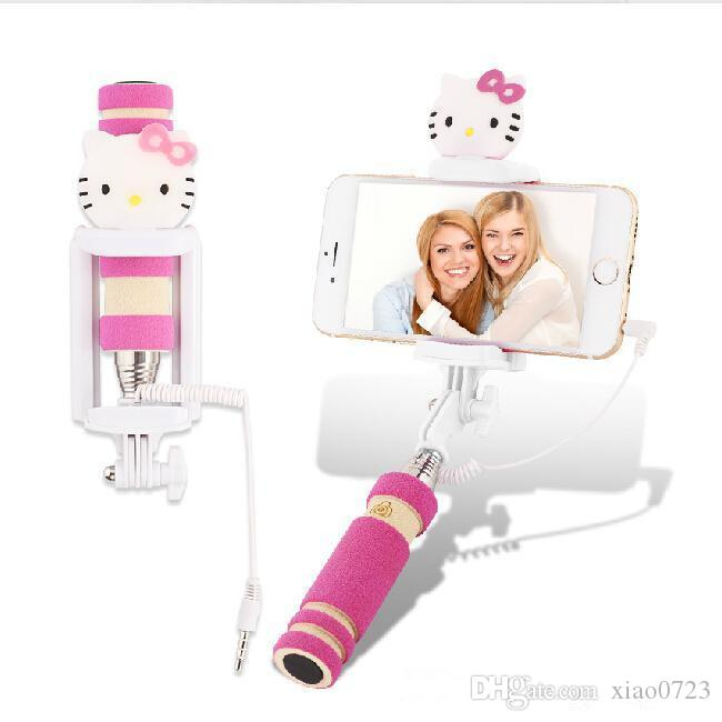 discount for iphone for samsung lg selfie stick handheld monopod hello kitty wired mini cartoon. Black Bedroom Furniture Sets. Home Design Ideas