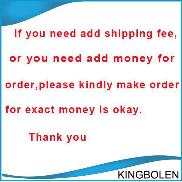 Link for add postage difference for price difference and remote fee, please kindly make order with exact money on this link is okay