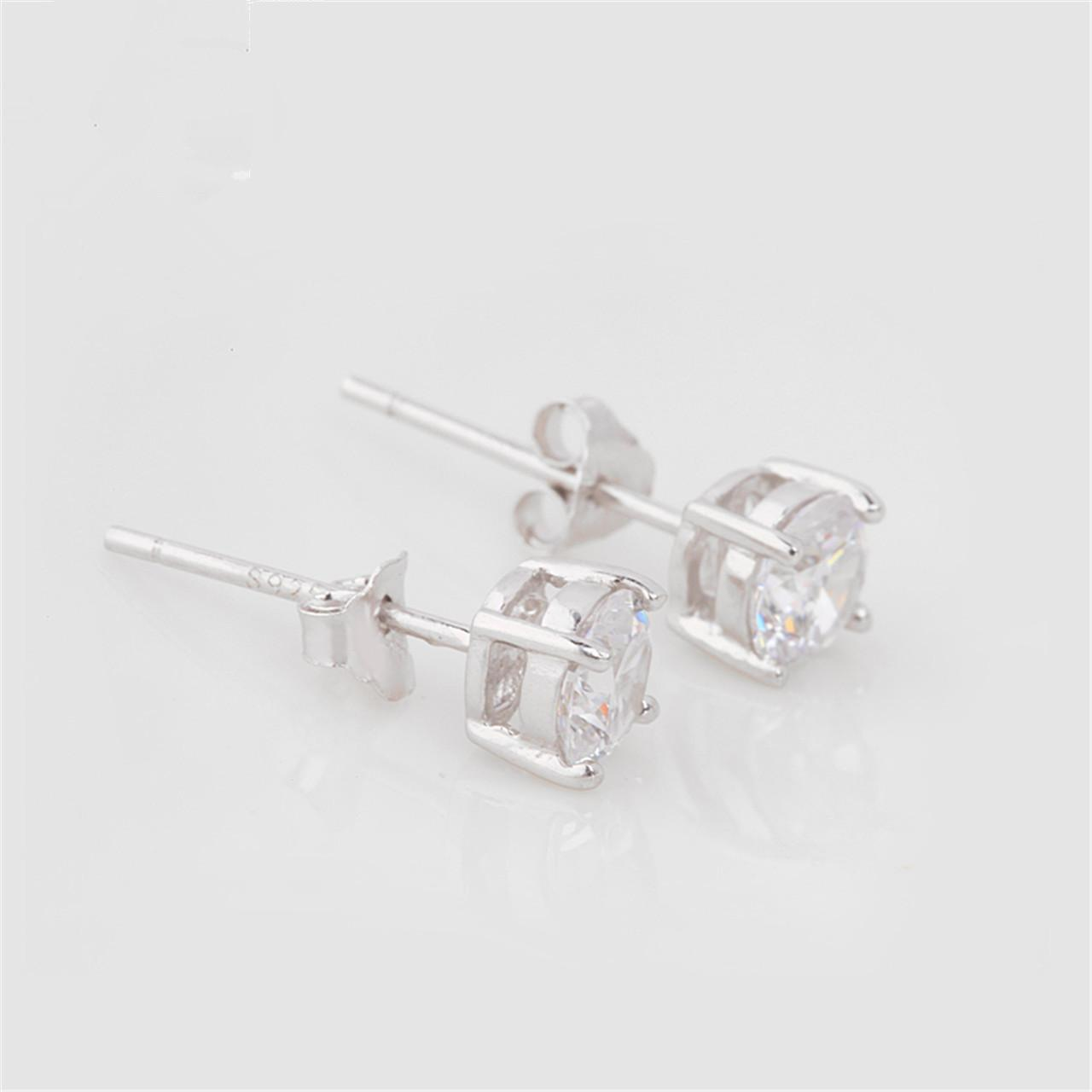 Earrings For Men And Women Fashion Jewelry Cheap Stud Earring 925 Sterling  Silver Cute Four Claw
