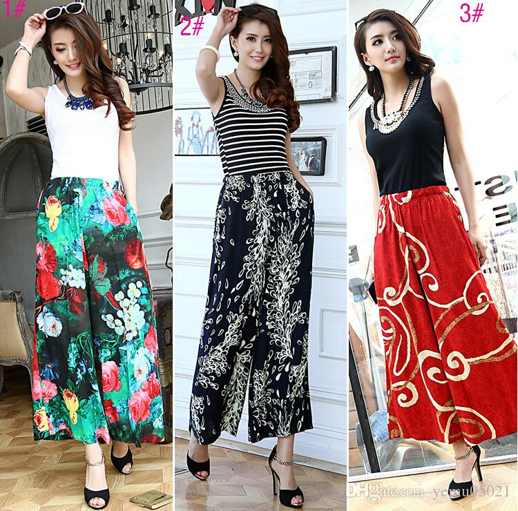 2017 2015 Summer Style Women Pants Casual High Waist National ...