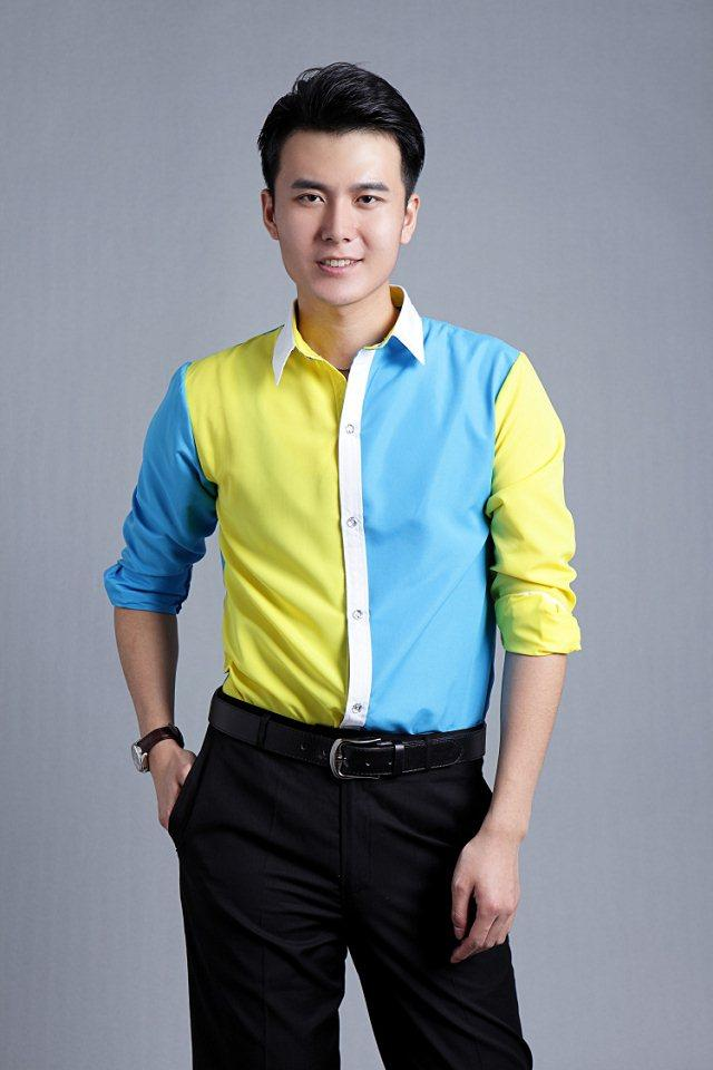2015 New Sky Blue And Yellow Mens Prom Shirts Tuxedos Shirts ...