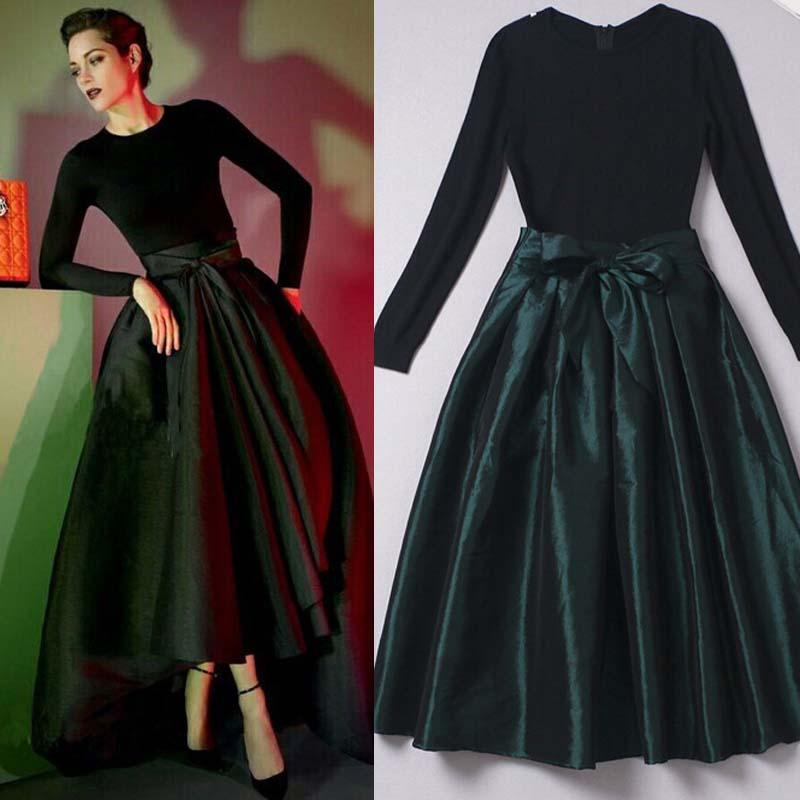 Long green taffeta skirt – Modern skirts blog for you