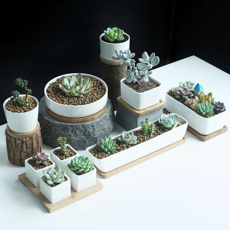2017 garden supplies garden pots planter white ceramic for Gardeners supply planters