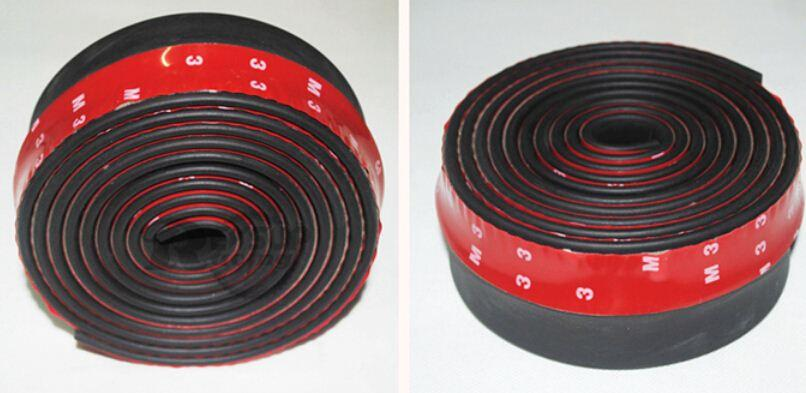 Universal TPVC Front Bumper Lip Skirt Protector Size 2.5m Length 6.5cm Front Bumper Strip Car Scratch Proof YA883