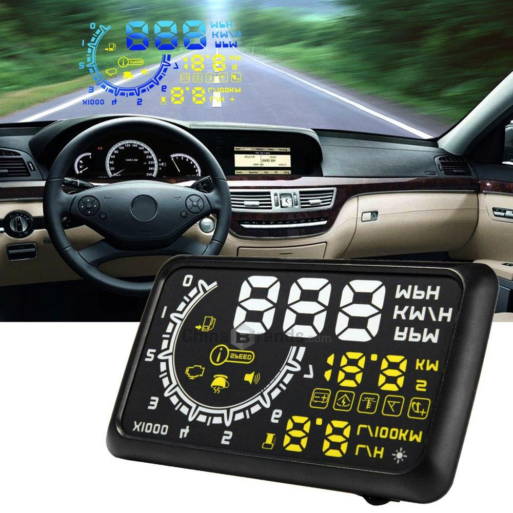 W02 car hud projector head up display obd ii hud car styling 5 5 comprehensive display car