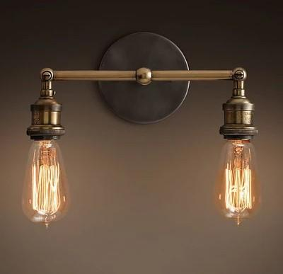 120w american country style loft vintage industrial wall lamp with 2 lights fixtures edison wall american country style loft