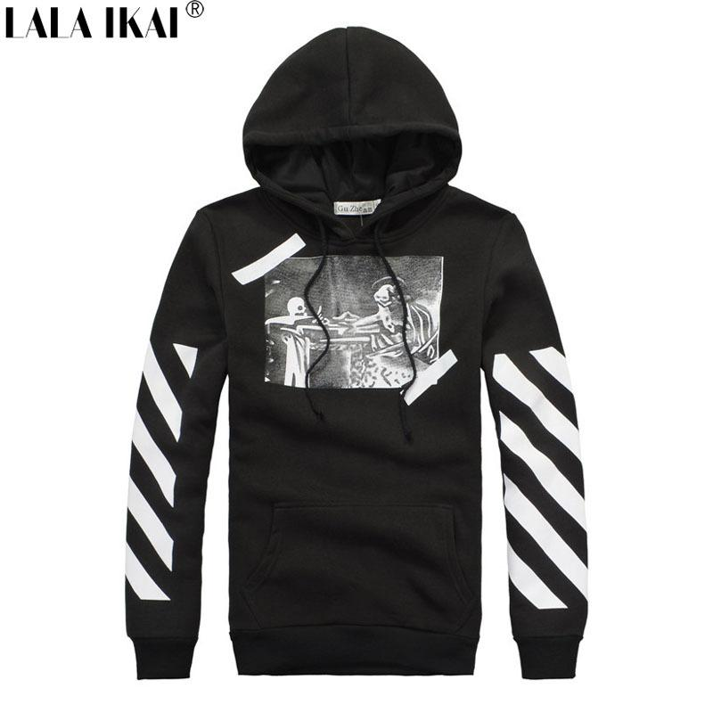 Best Hip Hop Off White Hoodies Sweatshirts Men Ghost Printed ...
