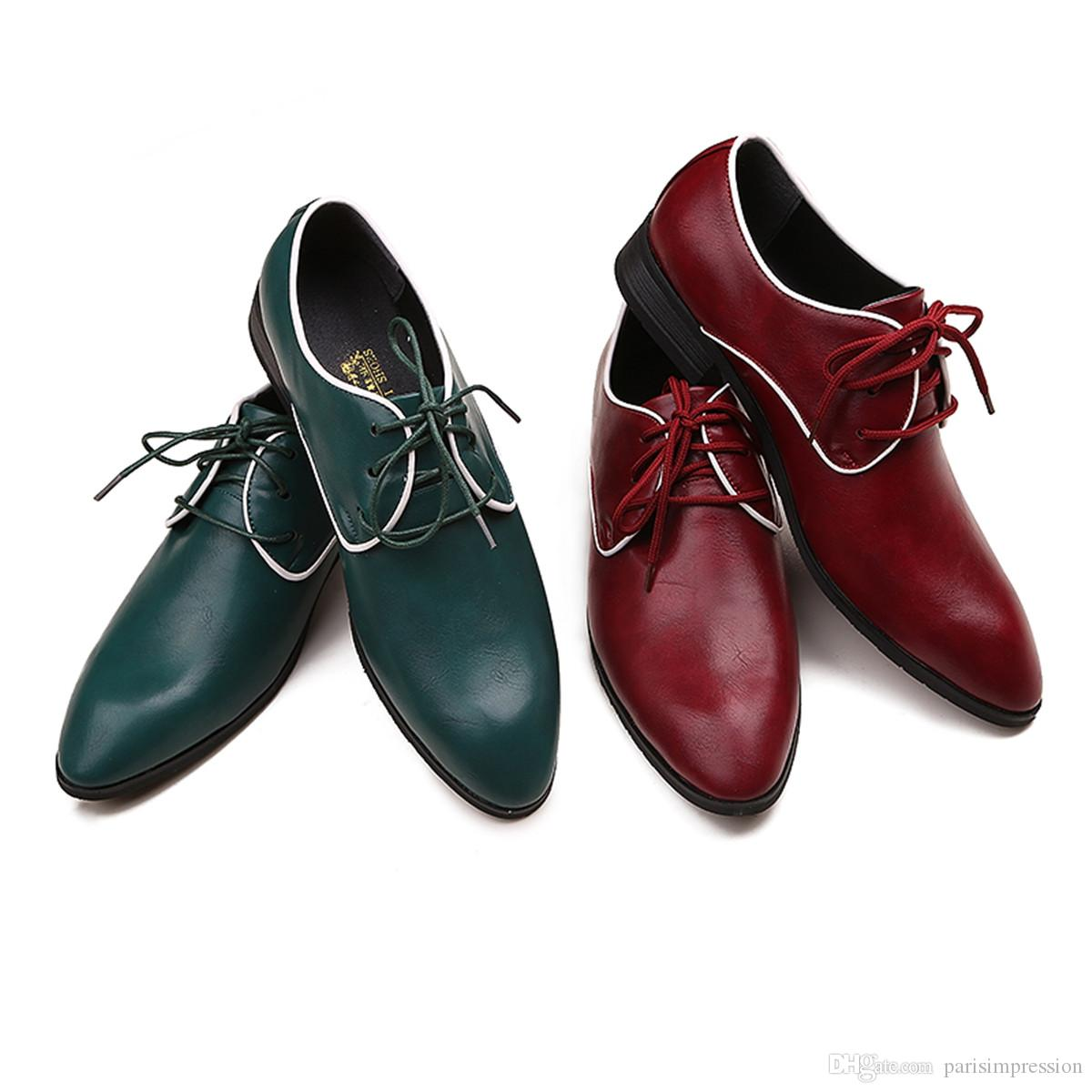 fashion burgundy shoes casual soft loafers