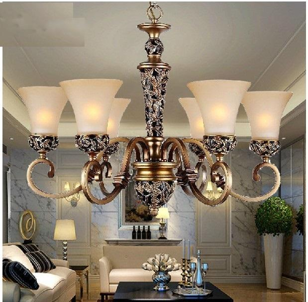 Wrought Iron Chandelier 6 Light Modern Living Room Lighting Antique Fashion Lamps LED LIGHTS Crystal Celling Lights Online