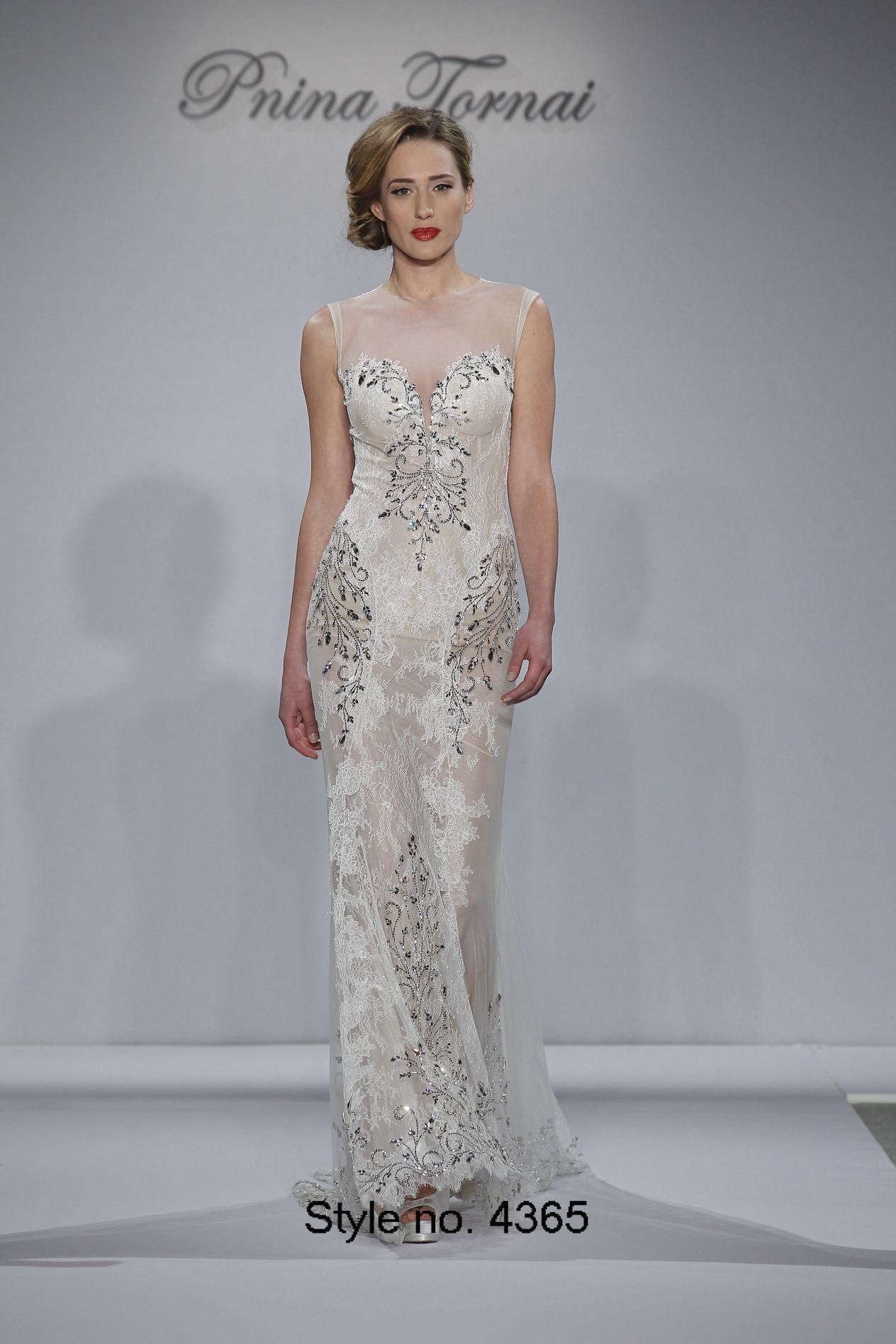 Pnina Tornai 2015 Mermaid Wedding Dresses Beaded Crystals