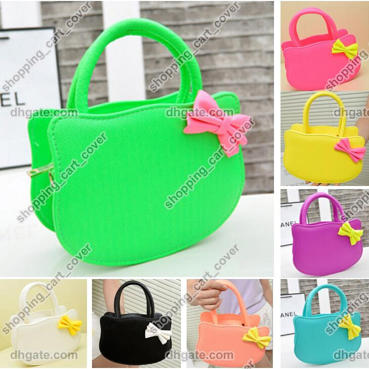 Cute Fashion Girl Baby Kid Child Hello Kitty PU Leather Handbag ...