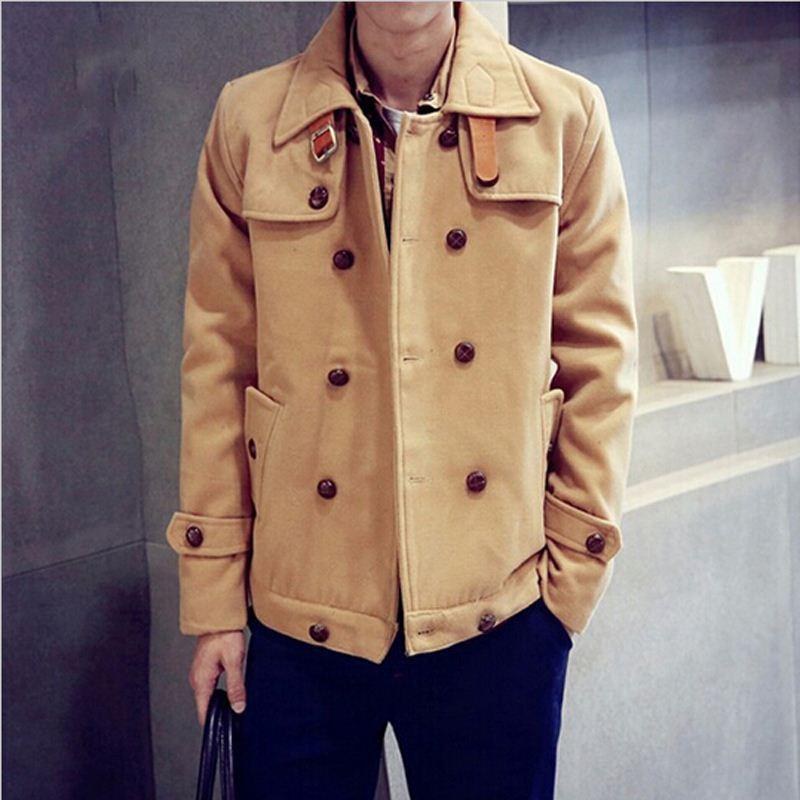 Special Design Casual Men&39S Pea Coat 2015 Autumn Winter Men&39S