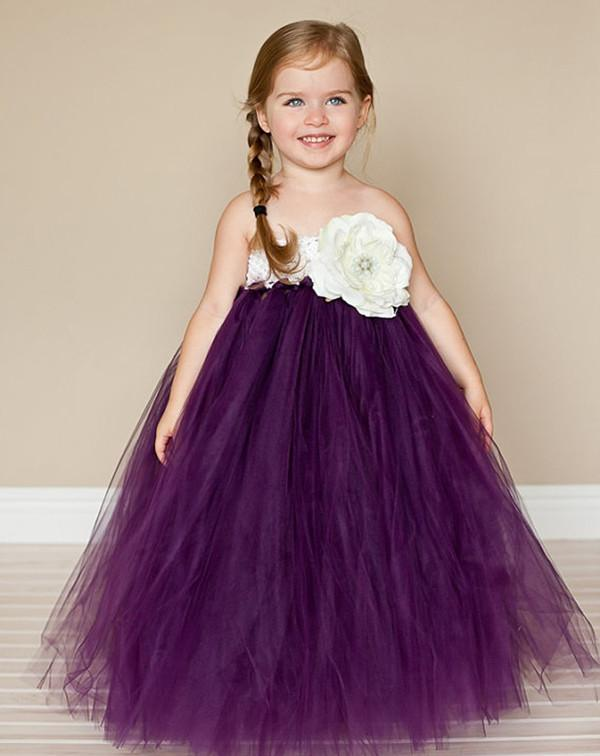 Cute Communion Dresses Little Girl Party Dress Ball Overlay Tulle ...