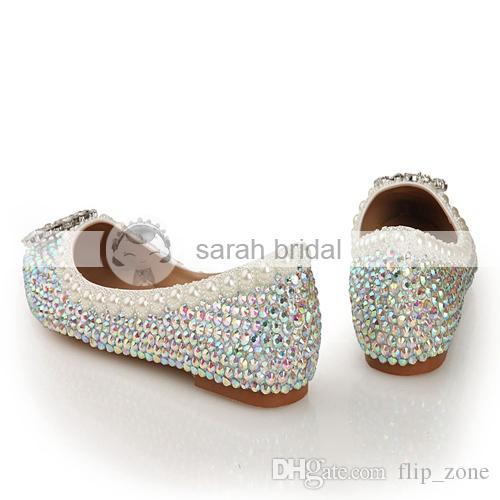 Bling Flat Wedding Shoes Flat Heel Wedding Shoes