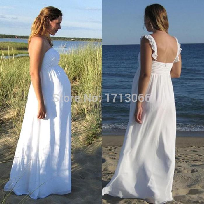 Discount 2016 hot selling chiffon wedding dresses plus for Plus size maternity wedding dresses cheap