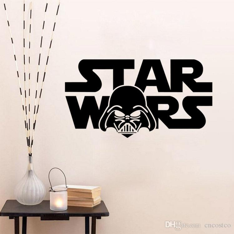 Freedhl 50pcs 3d Star Wars Through Wall Stickers Creeper Decorative Words Wall Decal Cartoon Wallpaper Kids Wall Art Poster E276l