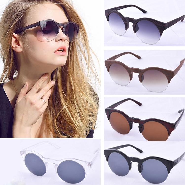 latest ladies sunglasses  Latest Designer Overstate Half Frame Sunglasses Vintage Wood Grain ...
