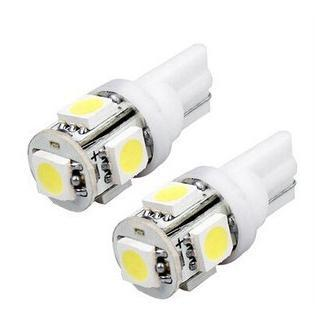 10pcs / lot gros Wedge Side voiture Tail lampe LED T10 5SMD WHITE LAMP W5W 194 5