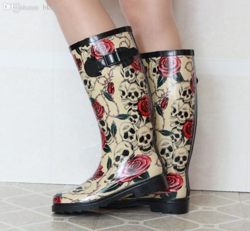 Discount Rose Rain Boots | 2017 Rose Rain Boots on Sale at DHgate.com