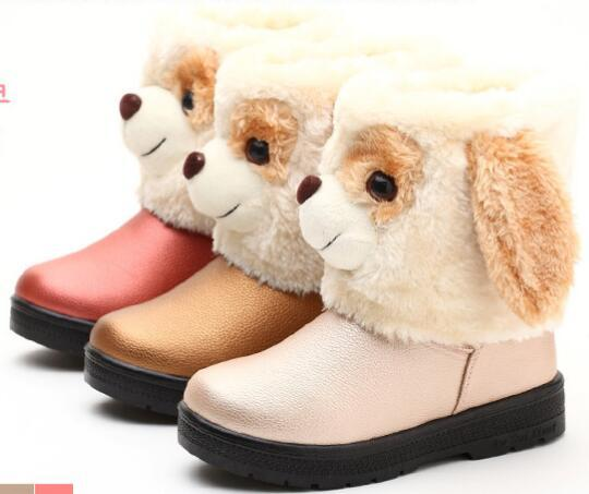 Retail Kids Lovely Cartoon Stereo Dog Head Boots Girls Snow Boots ...