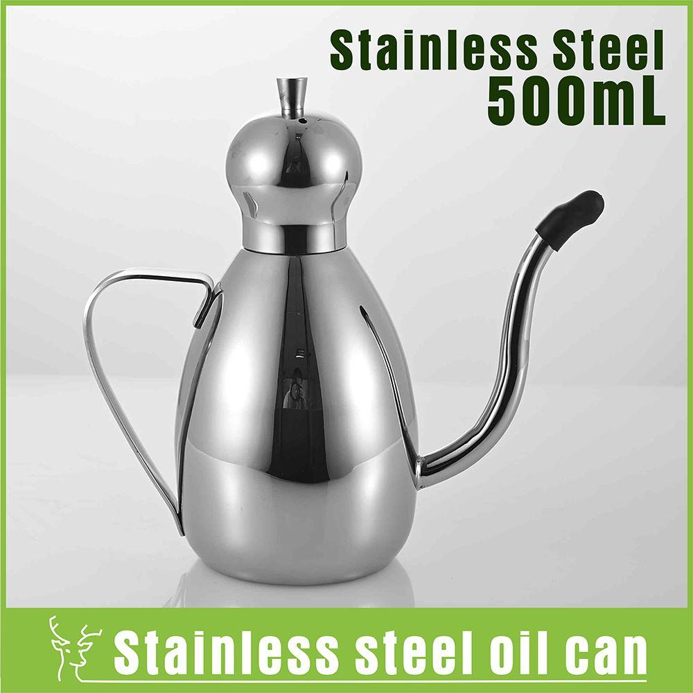 2017 0 5l Stainless Steel Kitchen Oil Pot Oil Container Storage