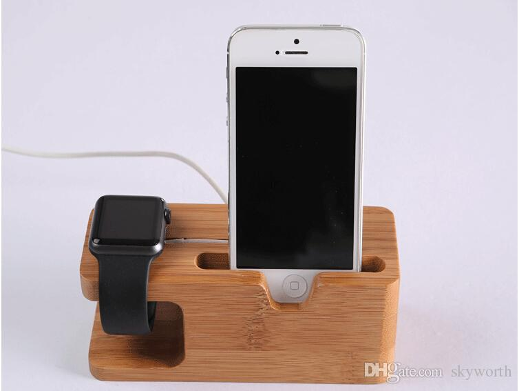 Apple Watch iwatch iPhone Wood Charging Station Stand Dock Bucket Wood ...