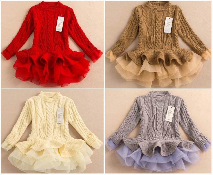 2015 kids winter Girl sweater dress,children\u0027s clothing long sleeve girls  sweater tutu dress,
