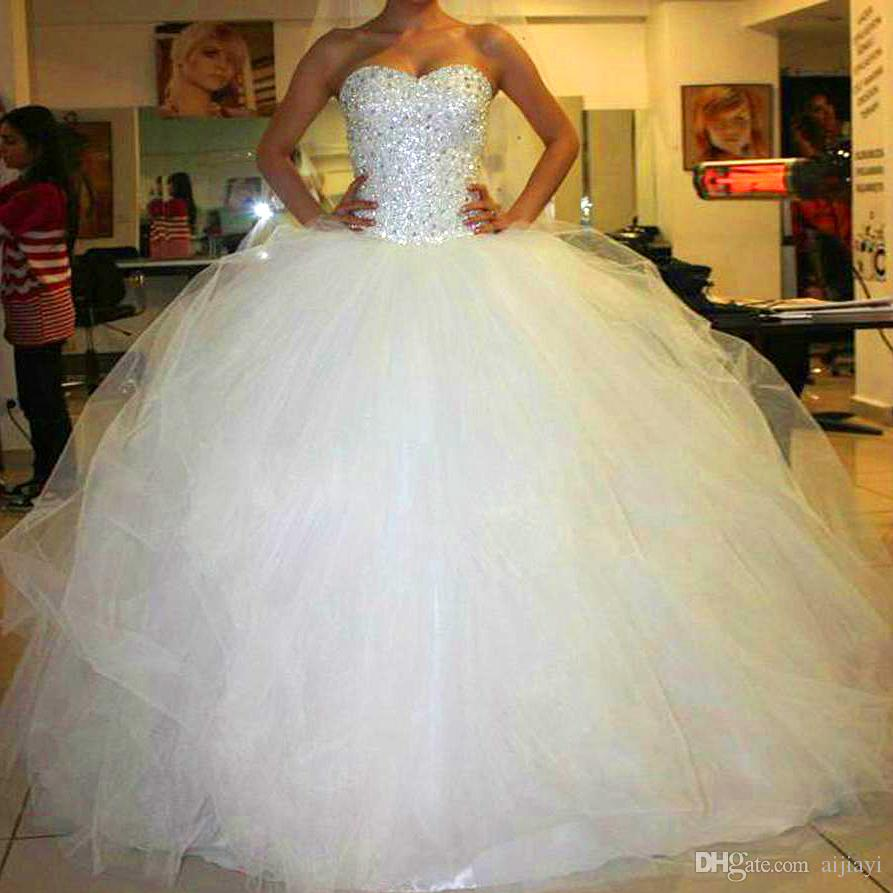 2014 New Sweetheart Custom Made Ivory White Satin Tulle