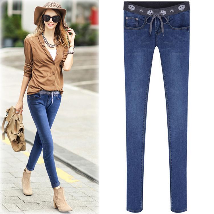Cheap Ladies Jean 2015 New Women's Autumn Pants Feet High Waist ...